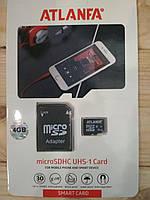 Карта памяти Atlanfa Micro SD 4GB