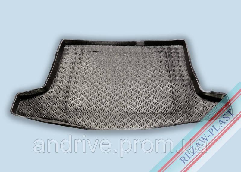 "Ковер багажника Ford Focus II 2004-2007 хеч (запаска-докатка) (резино/пластик) ""REZAW"" черн."