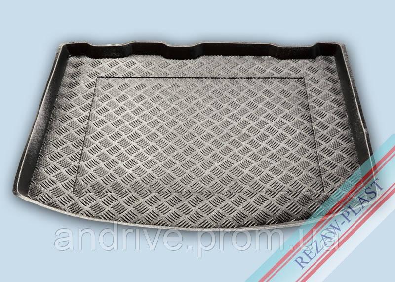 "Ковер багажника Ford Kuga I 2008-2012 (резино/пластик) ""REZAW"" черный"
