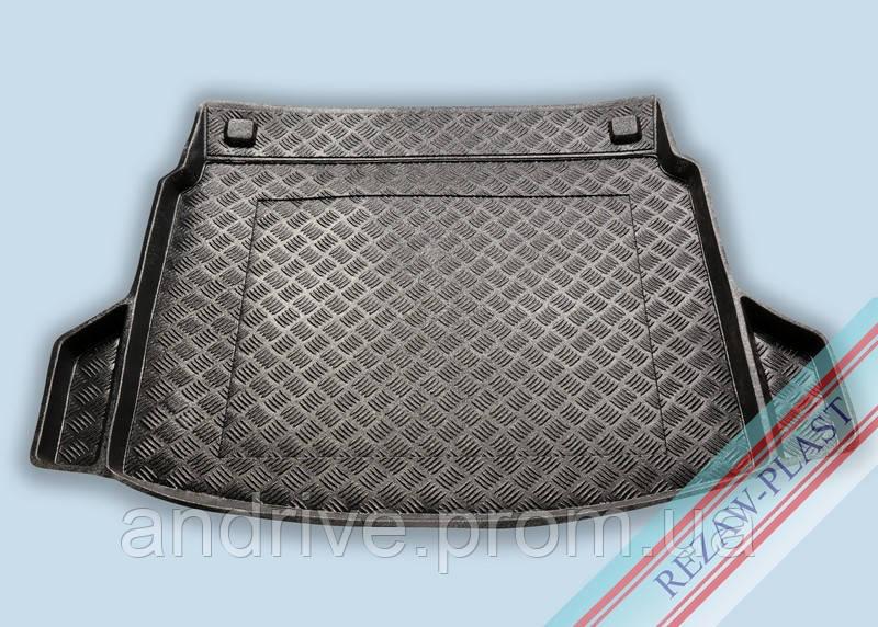 "Ковер багажника Honda CR-V IV 2012-> (резино/пластик) ""REZAW"" черн."