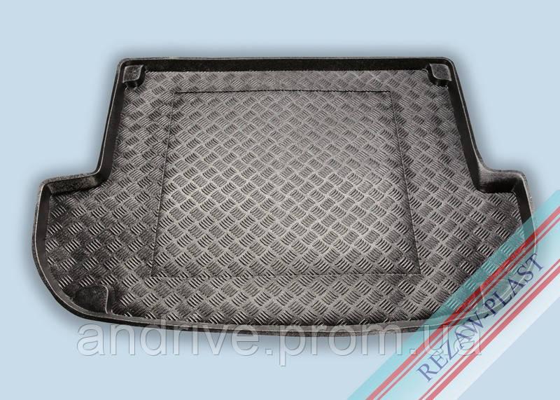"Ковер багажника Hyundai Santa Fe 2006-2010 5мест (резино/пластик) ""REZAW"" черн."