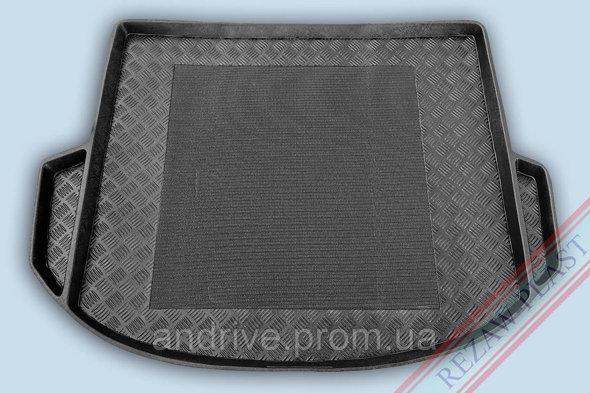 "Ковер багажника Hyundai Santa Fe 2013-> 7мест (резино/пластик) ""REZAW"" черн."