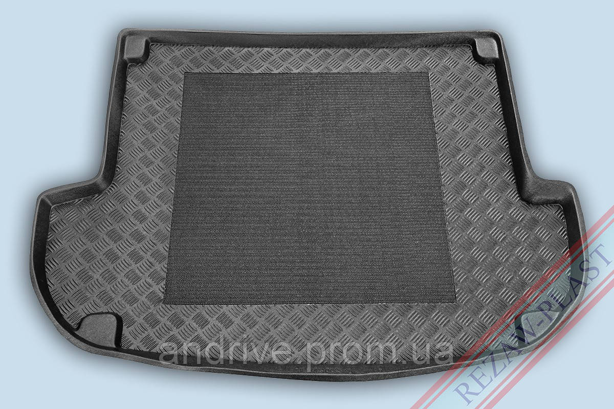"Ковер багажника Hyundai Santa Fe 2006-2010 5мест (+антиск.ковр.) (резино/пластик) ""REZAW"" черн."