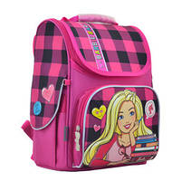 "555156 Ранец каркасный 1 Вересня H-11 ""Barbie red"""