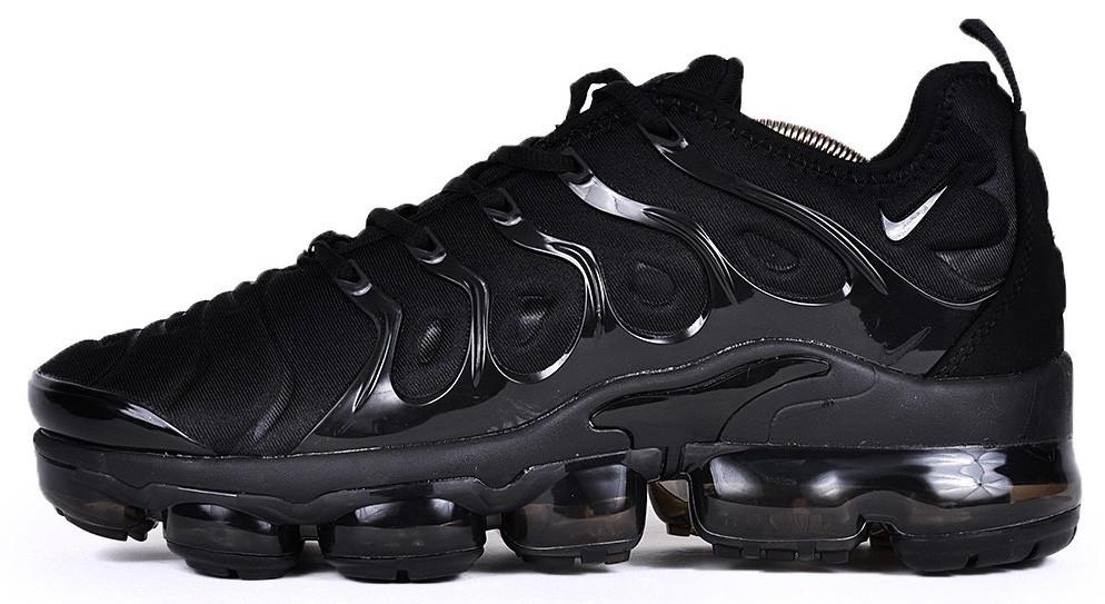 Мужские кроссовки Nike Air VaporMax Plus (Найк Аир Макс Плюс) черные