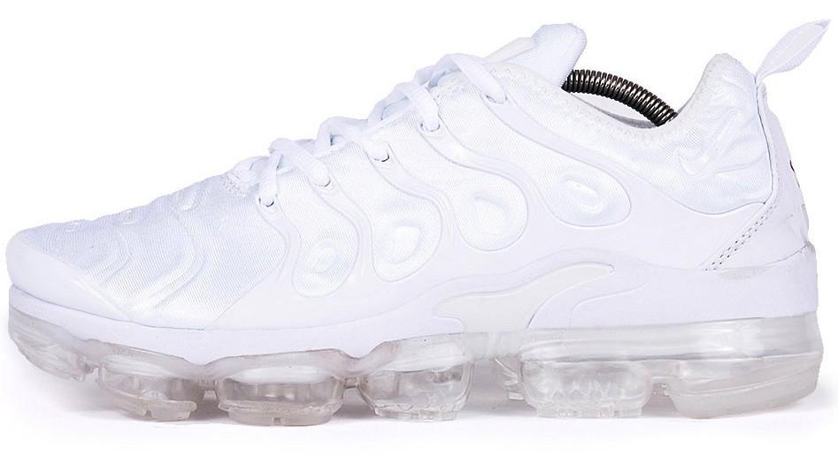 Мужские кроссовки Nike Air VaporMax Plus (Найк Аир Макс Плюс) белые