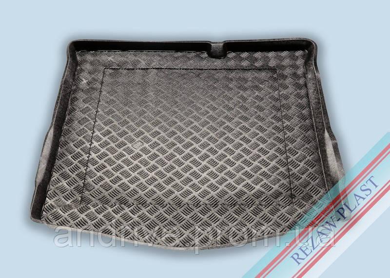 "Ковер багажника Peugeot 301 2012-> (C-Elysee) (резино/пластик) ""REZAW"" черн."