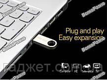 Металическая флешка на  32Gb серого цвета. Флешка (брелок) Wansenda. USB Flash, фото 2