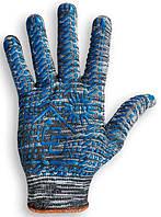 Перчатка трикотажная с точкой ПВХ черная, артикул 109