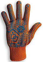 Рабочие перчатки с ПВХ точкой 7 класс, артикул 152