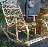 Крісло качалка плетенное з лози | крісло-гойдалка для відпочинку садова для дачі