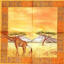 Декупажні серветки жираф 483
