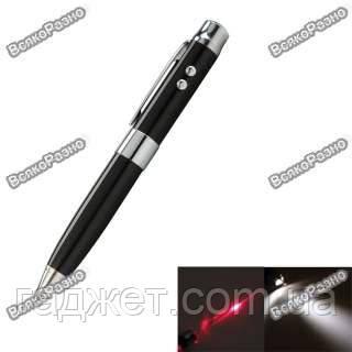 Флешка, ручка и лазер 3 в 1 черного цвета на 16 гб.