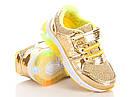 Модные кроссовки на девочку с подсветкой подошвы Размеры 22- 25 Турция, фото 3