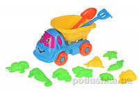 Набор для игры в песочнице Same Toy 11ед голубой/желтый B011-C1