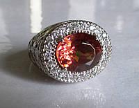 """Шикарный перстень """"Плетеный""""  с  султанитом и белыми сапфирами, размер 18,1  студия LadyStyle.Biz, фото 1"""