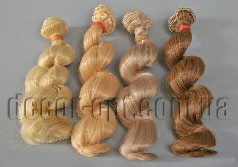 Волосы для кукол спиральные 15см/~1м