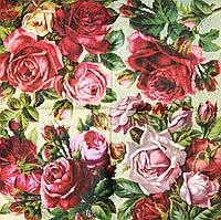 Салфетка декупажная Розы 490