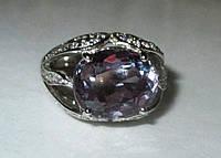 """Потрясающий перстень с александритами и белыми сапфирами """"Царевна"""", размер 17 от студии LadyStyle.Biz, фото 1"""