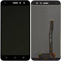 Дисплей Asus ZenFone 3 ZE552KL черный (LCD экран, тачскрин, стекло в сборе)