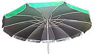 Зонт торговый 3,5м круглый с клапаном и серебряным напылением(12 пластиковых спиц), фото 1