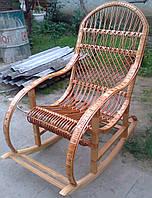 Плетене крісло качалка | крісло-гойдалка для відпочинку садова для дачі