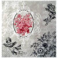 Салфетка Ангелы и цветы в графике 33 см