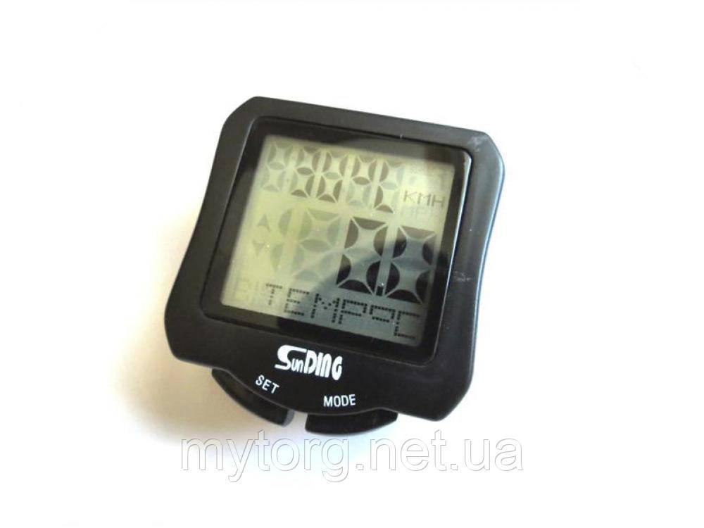 Товар имеет дефект Велокомпьютер SunDING 570 с подсветкой Уценка №349