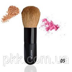Кисть для макияжа кабуки для пудры и румян Parisa Cosmetics Р-05 натуральная Р-05