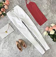 Белоснежные джинсы с высокой посадкой.  PN181714