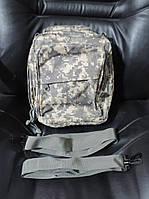 Сумка - рюкзак тактическая двух лямочная мультифункциональная (через плечо, на спину как рюкзак, на пояс). EDS, фото 1
