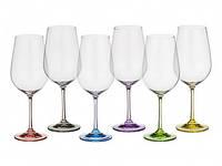 Набор бокалов для вина Bohemia Rainbow 40729 D4641-350 (6 шт, 350 мл)