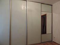 Шкаф-купе белый стеклянный, фото 1