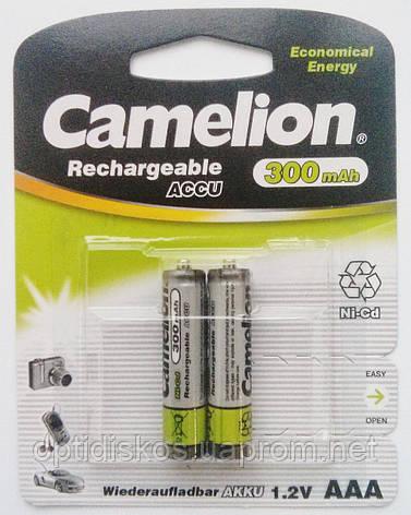 Аккумуляторная батарея CAMELION R 03/2bl 300 mAh Ni-MH, фото 2