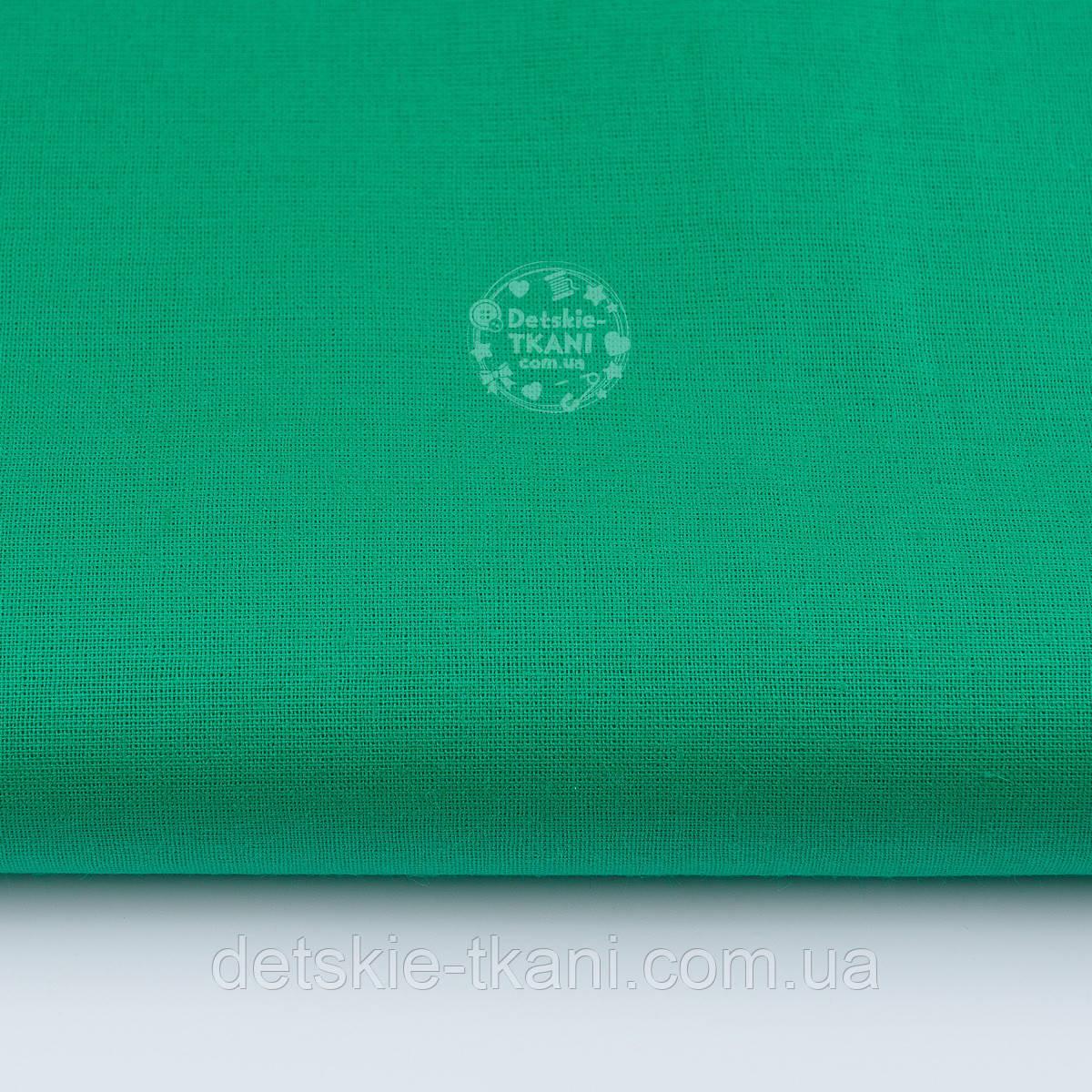 Однотонная польская бязь тёмно-зелёного цвета шириной 160 см (№461).
