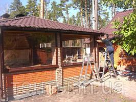 Мягкие окна ПВХ на летнюю кухню