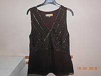 Шоколадная блуза из шифона Monnari, фото 1