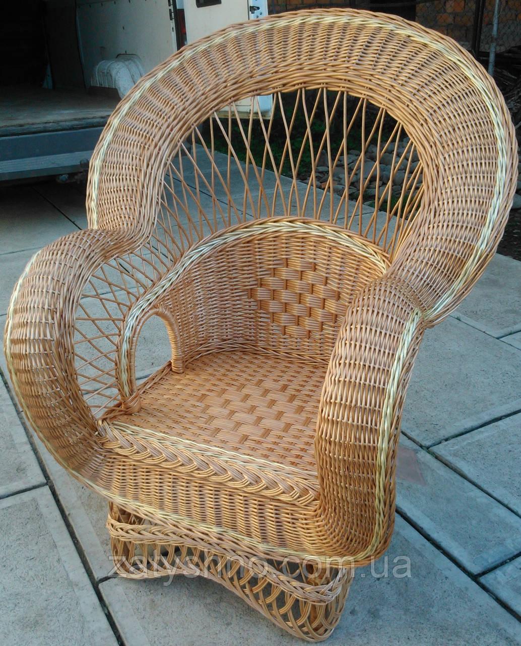 Кресло плетеное с оригинальным дизайном, фото 1
