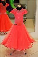 Платье для бальных танцев -бейсик, Pink Grape-fat