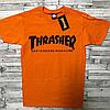 Thrasher футболка оранжевая мужская • Бирки на фото