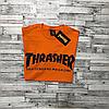 Thrasher футболка оранжевая мужская • Бирки на фото, фото 4