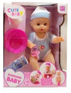 Кукла пупс с горшком, бутылочкой и соской 702A-3