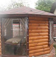 Прозрачные шторы ПВХ для летней кухни