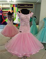 Платье-стандарт для бальных танцев (юниоры-1-2). Baby Pink - fat