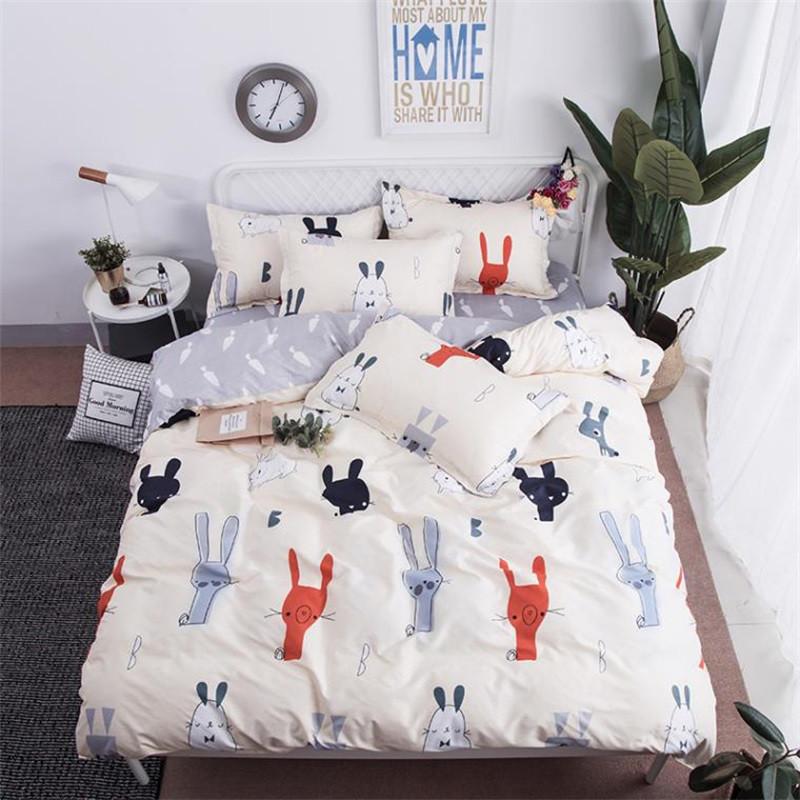 Комплект постельного белья Кролики с морковкой (двуспальный-евро) Berni Home