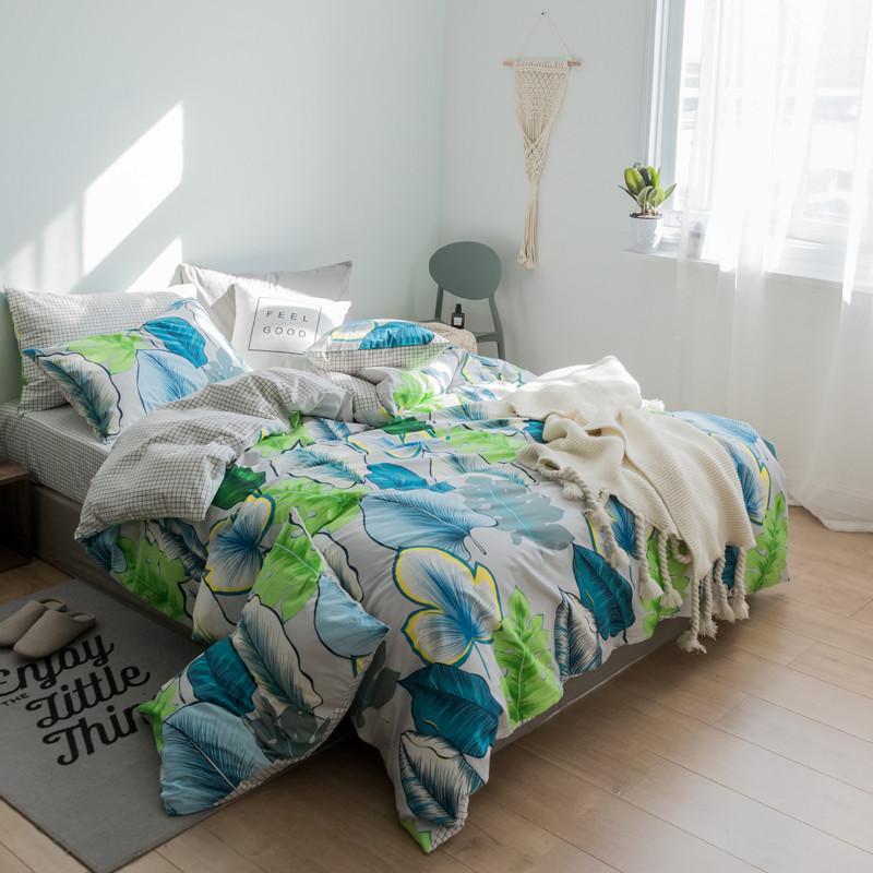 Комплект постельного белья Тропические листья (полуторный) Berni Home
