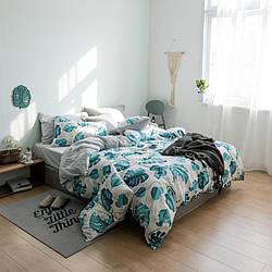Комплект постельного белья Цветущая монстера (полуторный) Berni Home