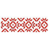 Трафарет декоративный 11х33 см Вышиванка