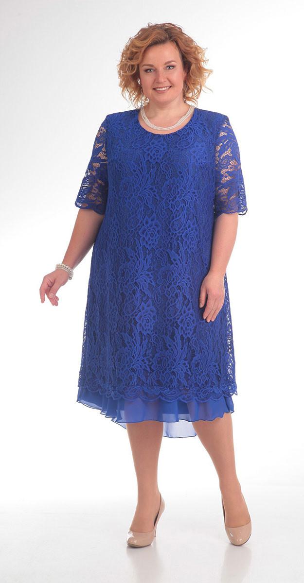 Платье Pretty-709 белорусский трикотаж, синий, 56