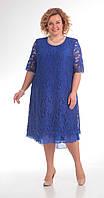 Платье Pretty-709 белорусский трикотаж, синий, 56, фото 1
